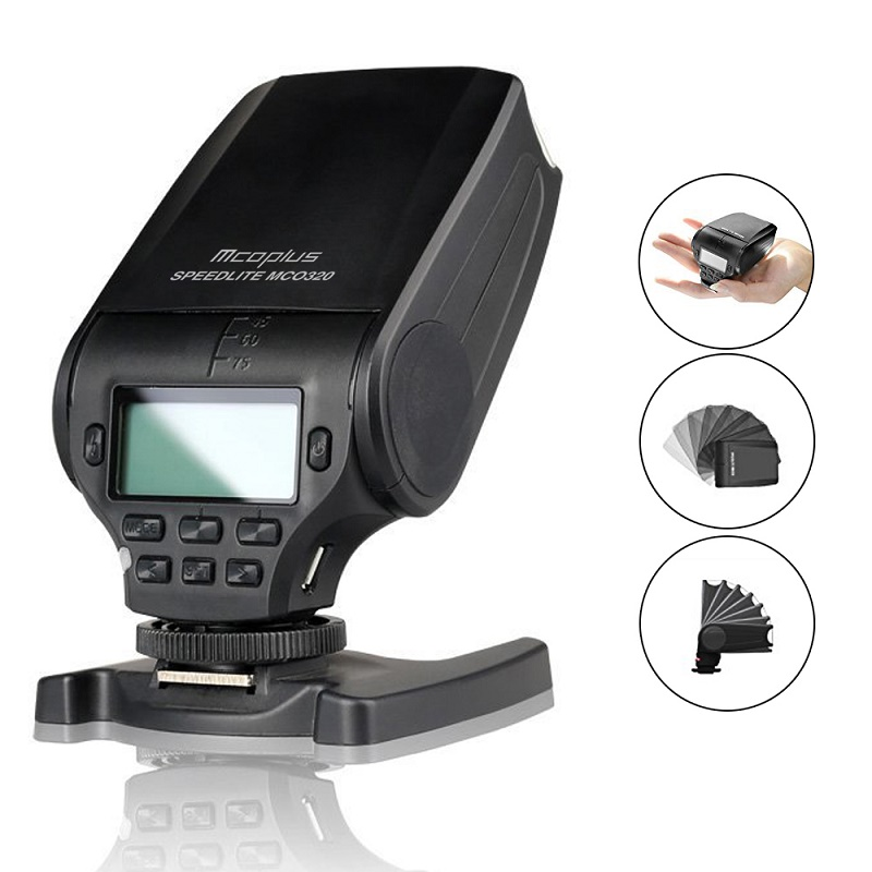 Mcoplus MCO320 TTL Flash Speedlite for Panasonic <font><b>Lumix</b></font> DMC GF7 GM5 GH4 GM1 <font><b>GX7</b></font> G6 GF6 GH3 G5 GF5 GX1 GF3 G3 as Meike MK-320 image