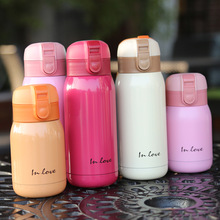 Cute Mini Thermos Kids Bottle Stainless Steel Thermo cup Vacuum Cups Coffee Mugs Termos children belly mug school thermal bottle thermos bottle 350 ml coffee mug stainless steel creative cute rabbit bear outdoor school office travel mugs thermos bottle mug
