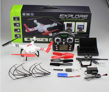 2015 WL V686-G FPV real time transmission 2.4Ghz 4ch rc drone with camera&monitor