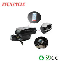 Free shipping little frog Li ion ebike battery 18650 battery pack 36V 17Ah for city bike, folding bike with charger