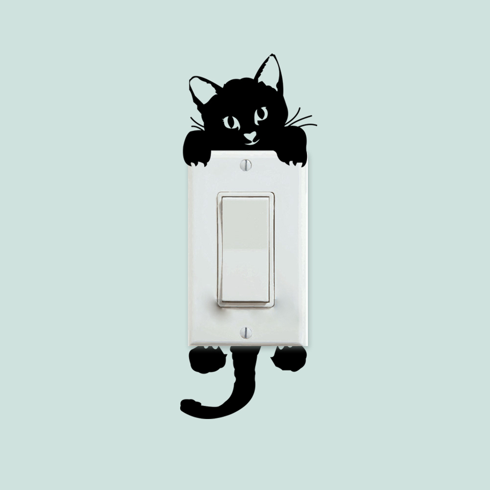 Cat Cute Cartoon Animal Decal Choose Color V and T Gifts