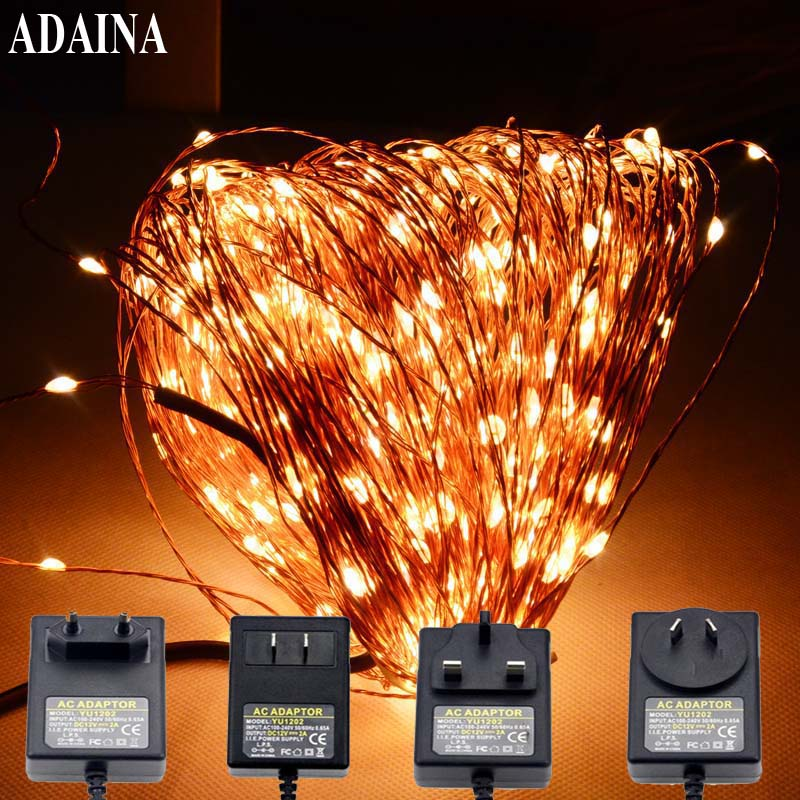50M/165Ft 500 LEDs Copper Wire Led String Fairy Lights Outdoor Waterproof for Garden Wedding Halloween Christmas Decorations