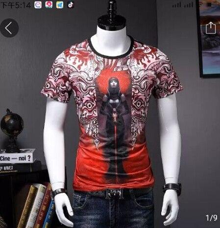Hip Hop décontracté manches courtes T-Shirt col rond coton T-Shirt hauts t-shirts hommes marque de luxe de haute qualité