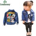 Girls Jacket Denim Children Coat Minnie Mouse Print Cute Jeans Jacket Baby Spring Autumn Infant Girls Cartoon Outwear