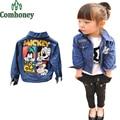 Girls Jacket Denim Children Coat Minnie Mouse Print Cute Jeans Jacket Baby Spring Autumn Infant Girls Cartoon Outwear