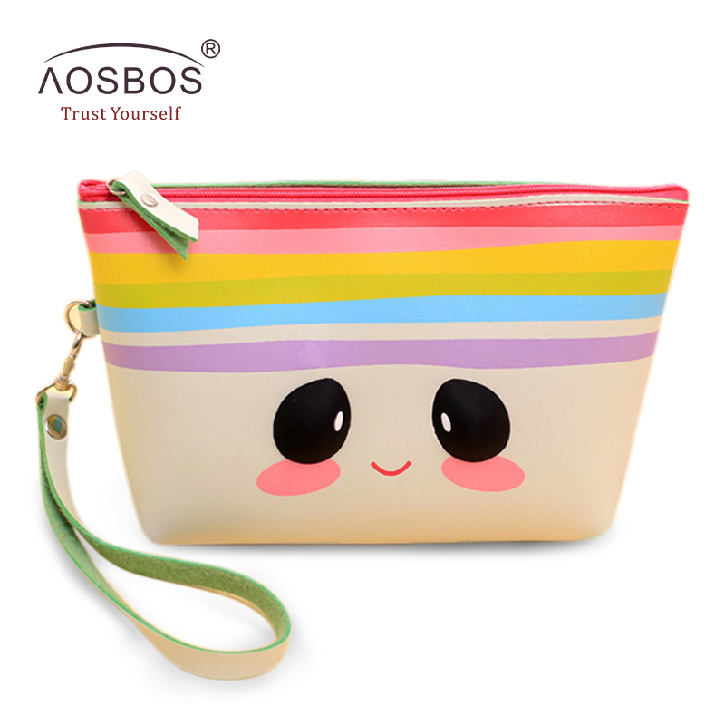 Lovely Cartoon PU Cosmetic Bag Waterproof Travel Makeup Bag Organizer Casual Portable Toiletry Kits Necessaire Women