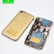 Lovecase Оригинальный чехол для iPhone 7 6S Роскошные 3D змеиной кожи питона кожа + жесткий корпус телефона для iphone 6 6 S 7 Plus задняя крышка