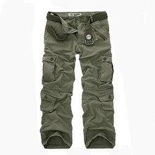 2016 pantalones de Camuflaje Masculinos pantalones Ocasionales de Los Hombres Pantalones Cargo Mens Pant Multi Bolsillo Militar General para Los Hombres Al Aire Libre Pantalones Largos