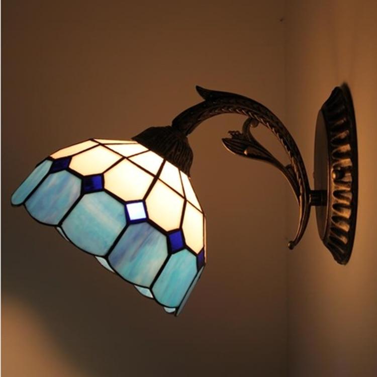 European Wall Light Mediterranean Mirror Lamp Bedroom Balcony Restaurant Study Hall Corridor Aisle Toilet Wall Lamps