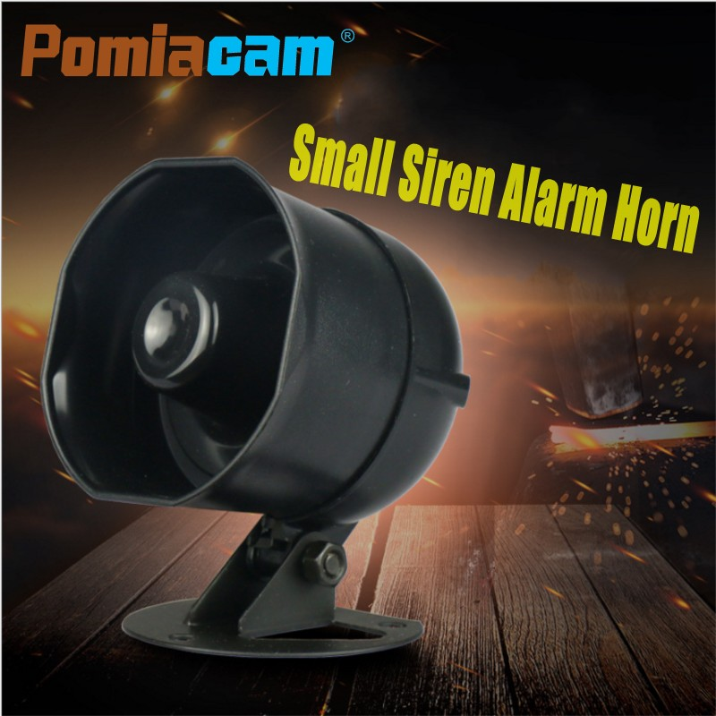 10W Small Car Truck Alarm Siren Horn Speaker Outdoor Voice Broadcast Alarm Support Micro SD Card Playback Speech Customization