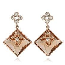 style crystal large earrings