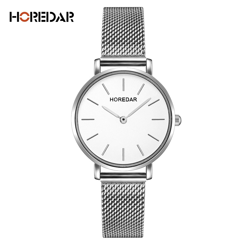 Famous Brand Watches Women Stainless Steel Mesh Band Dress Watch Fashion Ultra Slim Ladies Wristwatch Silver Relojes Mujer 2016 new hot ultra thin relojes fashion dress watches steel metal mesh band watch for kids man