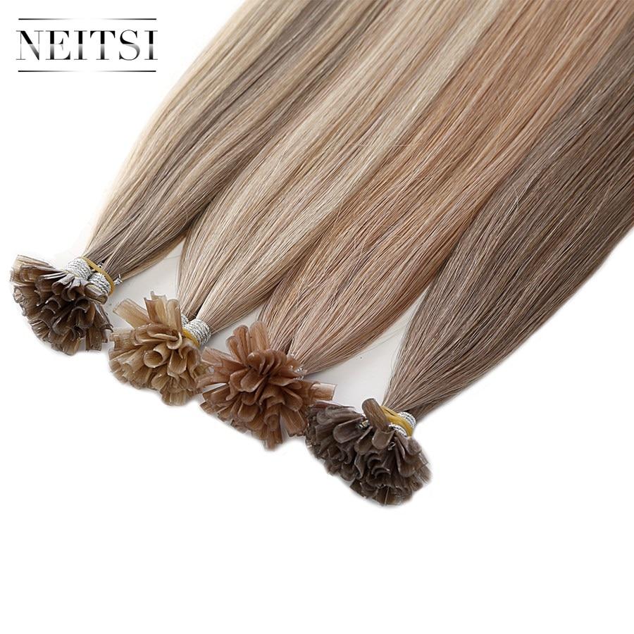 Neitsi Straight Бразільскі Nail Human Fusion - Чалавечыя валасы (для белых) - Фота 3