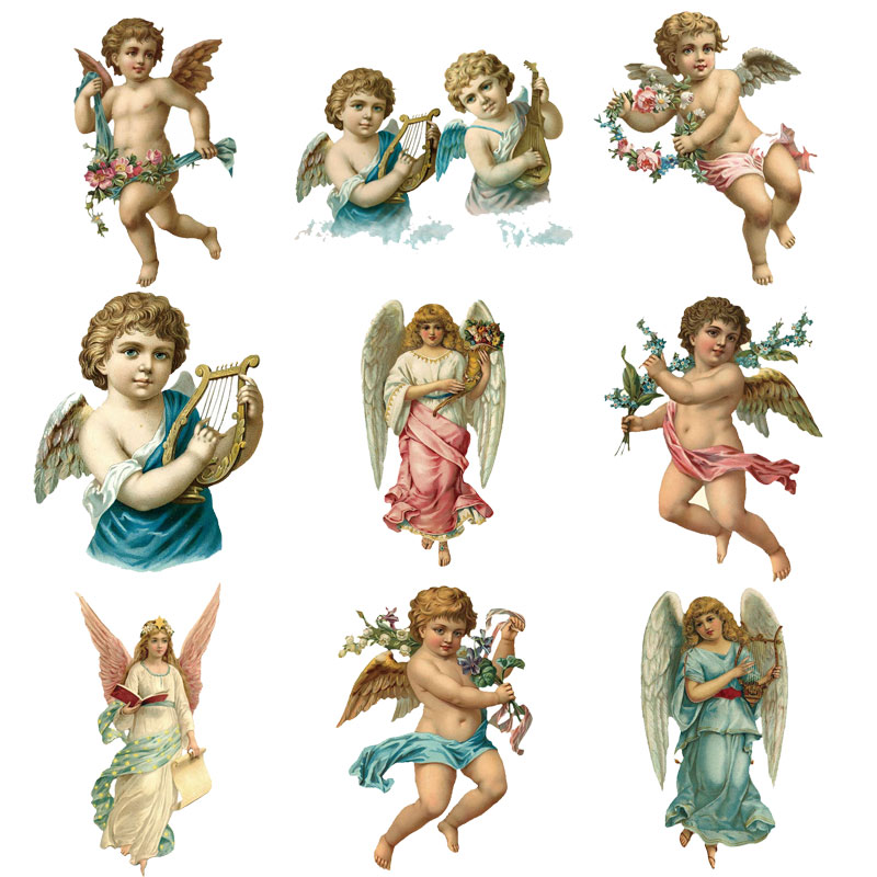 Iron On Fabric Appliques Baby Angels