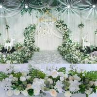 100*25*16 cm Artificial Rose Wedding Decoration Ornaments Rose Background Wall Simulation Flower
