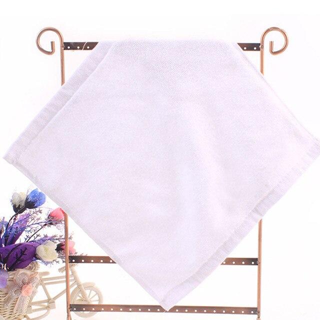 2 pz di Buona Qualità di Cotone Bianco Puro Piazza Asciugamani Super Soft Ad Asc