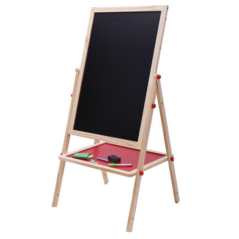 1 PC Frühen Kindheit Bildung Farbe Magnetischen Reißbrett Staffelei Schreiben Tafel Halterung Heben Holz Große Spielzeug - 4