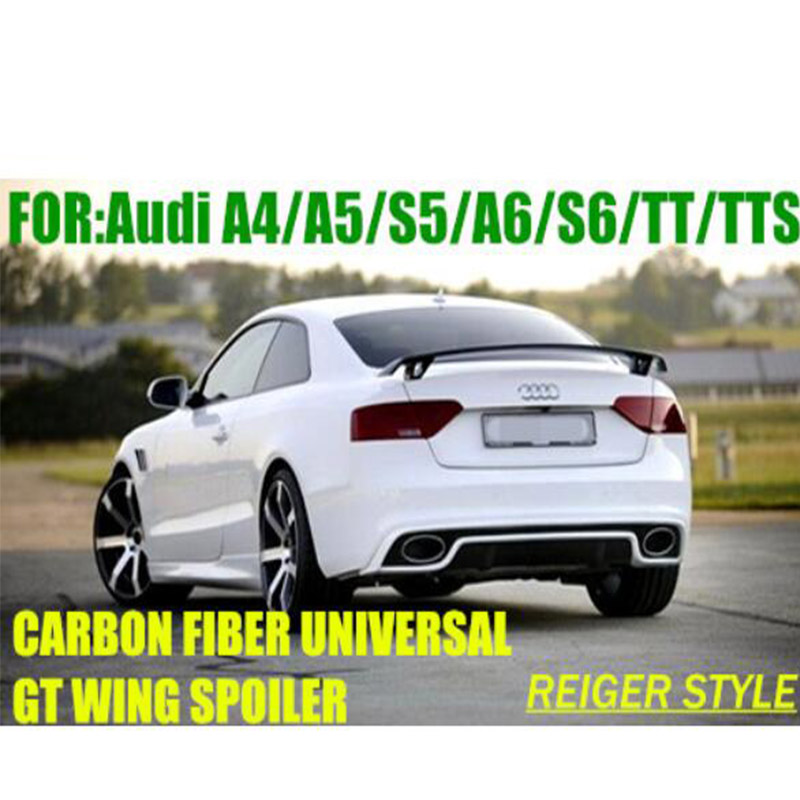 For Audi A3 A4 A5 Modified R Style Carbon Fiber Rear luggage Compartment Spoiler Car Wing