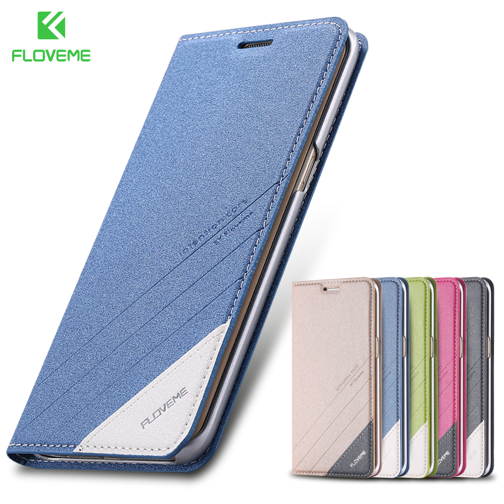 FLOVEME Caso di Vibrazione Del Telefono Per Samsung Galaxy S6 S7 Bordo di Caso Magnetico Del Basamento Fessura Per Carta Del Raccoglitore Del Sacchetto Per La Galassia S8 s9 Più Nota 8 9