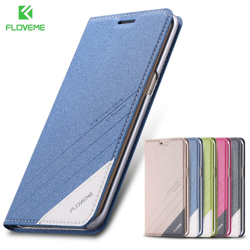 FLOVEME Flip funda de teléfono para Samsung Galaxy S6 S7 borde caso magnético soporte Wallet tarjeta ranura bolsa para Galaxy S8 s9 más Nota 8 9