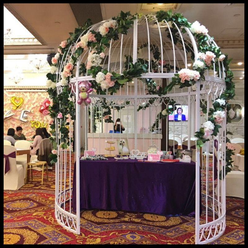 1 pièces cage à oiseaux en fer forgé grande cage à oiseaux en métal parc villa cage à oiseaux extérieure décoration de mariage grande cage à oiseaux décoration