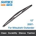 """Lâmina de limpador traseiro para mitsubishi outlander (a partir de 2007 em diante) 12 """"rb610 talão"""