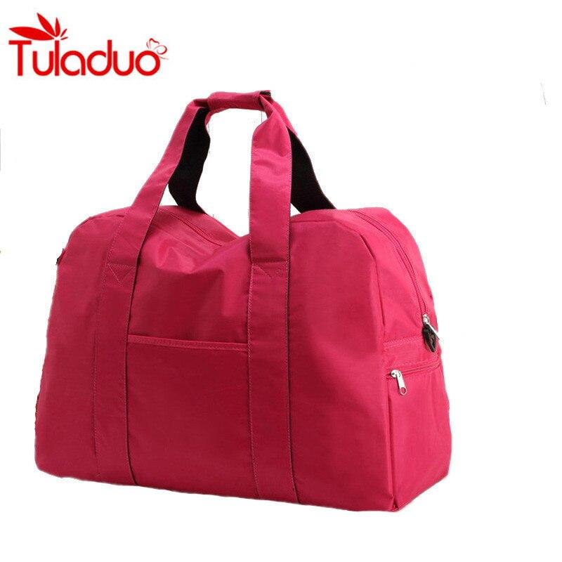 Promotion Large Capacity Folding Waterproof Luggage Women Travel Bags Portable Unisex Shoulder Handbags Women Luggage