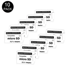 10 шт./лот, оригинальный адаптер для карты памяти, 5,0 дюйма, SD2Vita, для ps vita, PSVita, PSV1000 2000