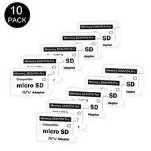 Werbe 2019 Neue Original 10 teile/los Memory Stick Adapter Version 5.0 SD2Vita für ps vita PSVita PSV1000 2000 MicroSD Adapter