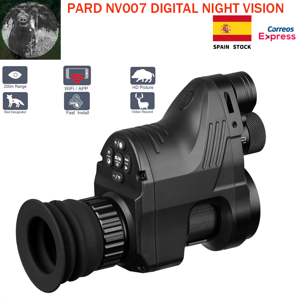 PARD NV007 Digital Hunting Night Vision Scope Cameras 5w Infrared Camera Night Vision Riflescope 200M Range