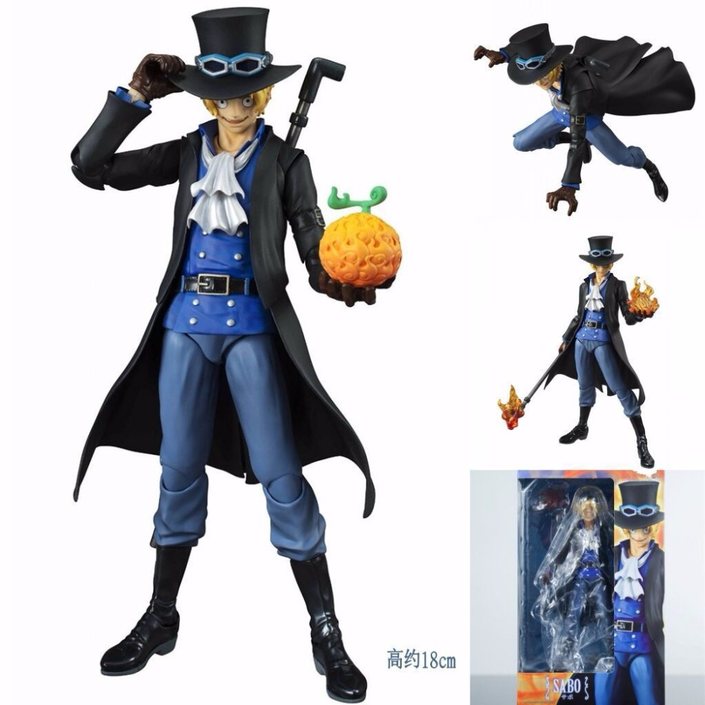 Newest Anime MegaHouse Variable Action Heroes One Piece Sabo Movable joints 18cm ONE PIECE Action Figure Collectible Model Toys japanese anime one piece original megahouse mh variable action heroes complete action figure dracule mihawk