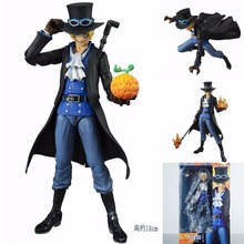 Newest Anime MegaHouse Variable Action Heroes One Piece Sabo Movable joints 18cm ONE PIECE Action Figure Collectible Model Toys