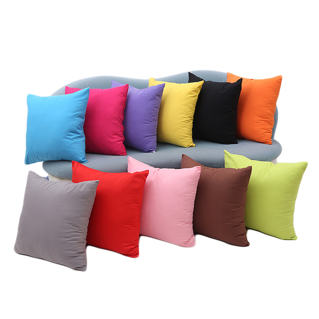 One Colored Pillow Case 1
