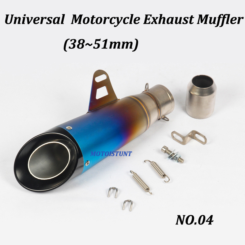 Image 3 - 51mm 61mm Universal Motorcycle Exhaust Muffler Modified With S C Laser Marking Carbon fiber+stainless steel For S1000RR R6 Z250-in Exhaust & Exhaust Systems from Automobiles & Motorcycles