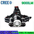 Z20 3 T6 headlight 9000LM 3 XM-L T6  LED Headlight 9000 Lumen led Headlamp Flashlight frontale Torch Head lamp