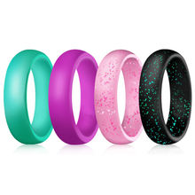 Модные кольца doreenbeads яркие силиконовые зеленого розового