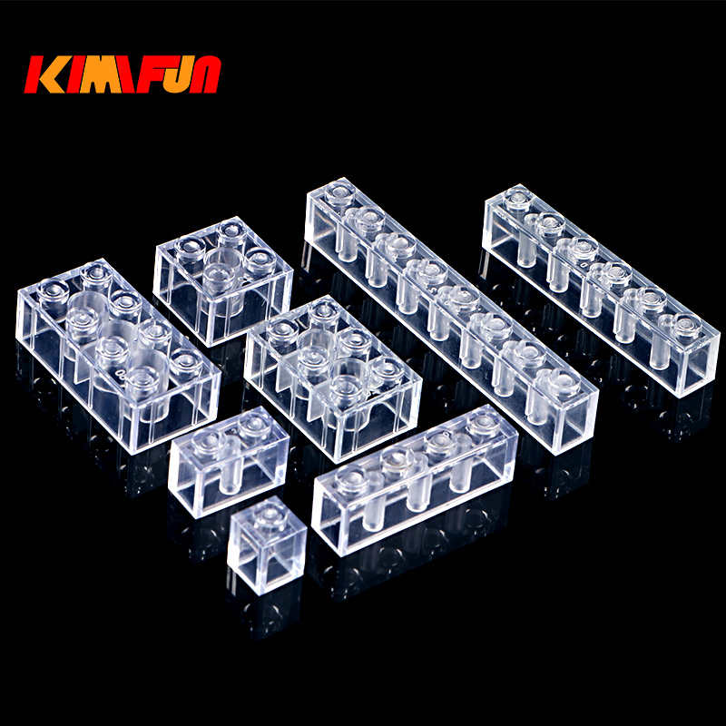 100g/Pack DIY Transparent Brick Model Building Blocks Toy City Building Bricks Children Toys Gift Compatible with lego 890pcs new ninja lair invasion diy 10278 model building kit blocks children teenager toys brick movie games compatible with lego
