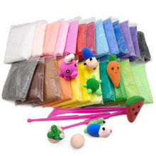 36/24/12pc Polymer Clay Slime Fluffy Light Soft Plasticine Toy Modelling Clay Playdough Slimes Toys Animal Figure Creative Clay