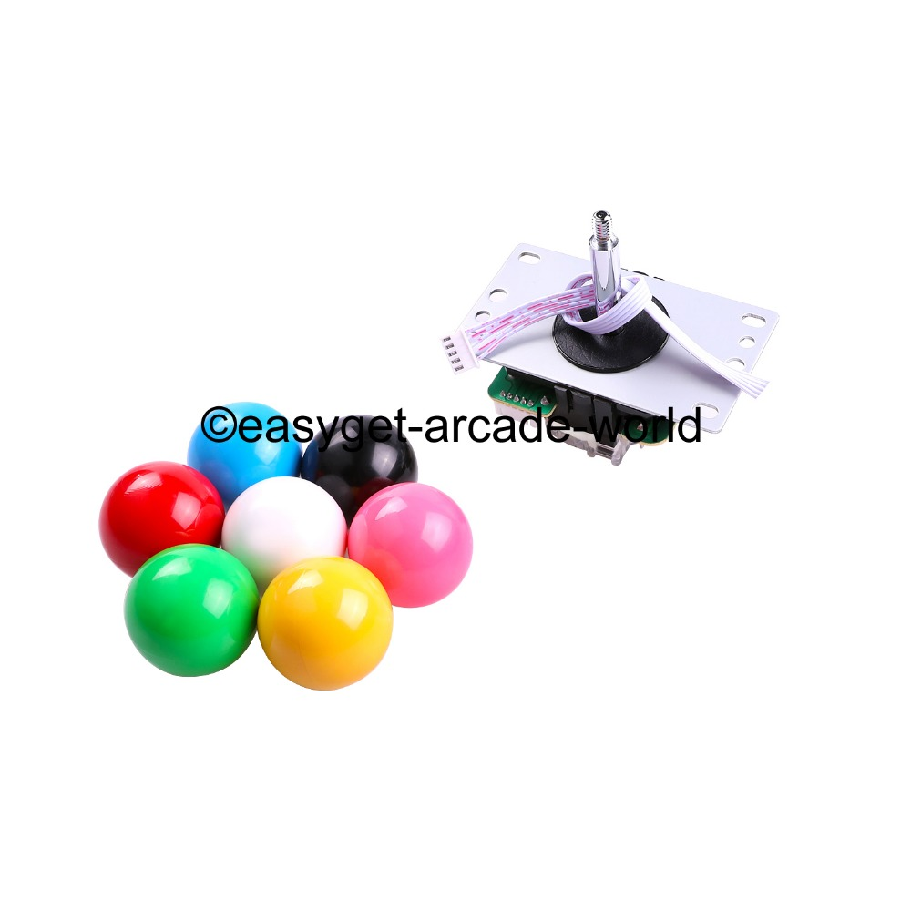 US $38 98 45% OFF|2 Player New Arcade Raspberry Pi 3 Retropie Project DIY 2  x Arcade Sticks + USB Connector + Start LED Button + Coin Push Button-in