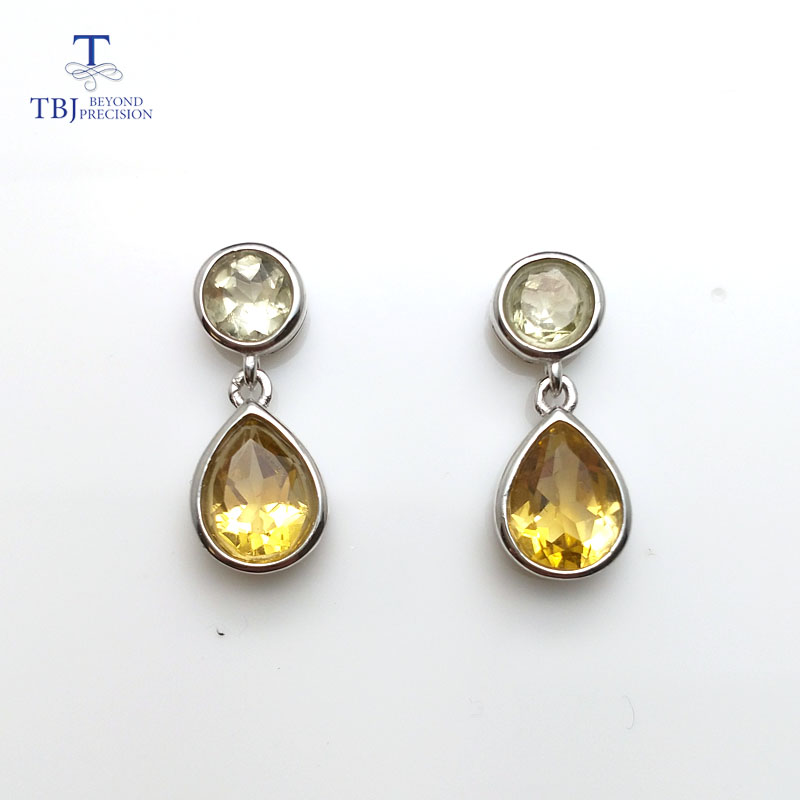 david green drop earrings sterling silver yellowgreen i renaissance lemon yurman citrine yellow