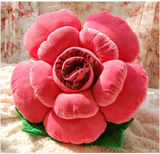 New Pattern 30 Cm Plush Rose/Flower Series Cushion/Pillow A Birthday Gift
