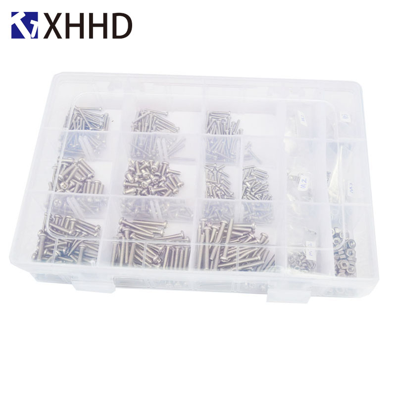 Phillips Pan Round Head Machine Screws Metric Thread Cross Recessed Bolt Set Assortment Kit Box 304 Stainless steel M2 M3 in Screws from Home Improvement