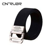 CNRUBR Designer Luxury Double Buckle Belt Top Quality Brand Outdoor Belt For Men Cowboy Knitted Strap
