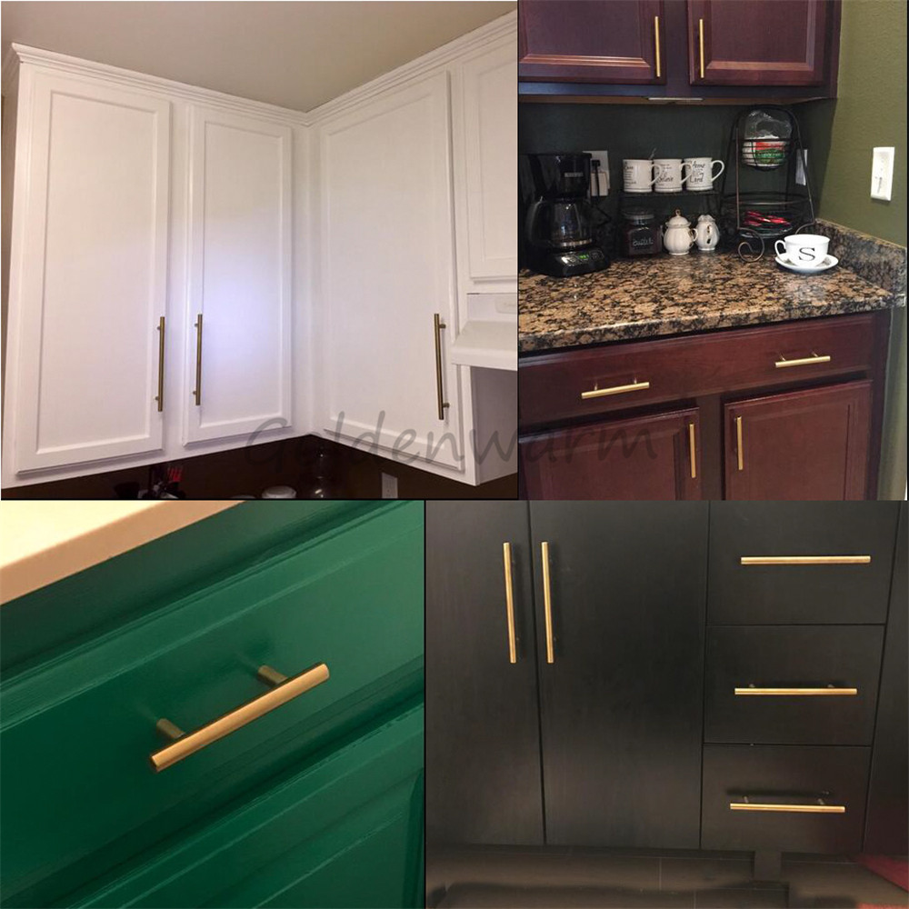 Aliexpress.com : Buy Gold Kitchen Cabinet Handles Dreeser Drawer ...