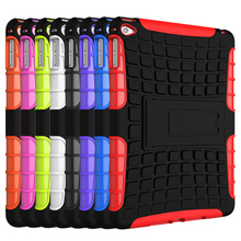 Tyre Style Duty Armor TPU+PC Tablet Cases For Apple iPad Mini 4 iPad Mini4 iPad Mini IV 7.9″ Cases Cover With Kickstand