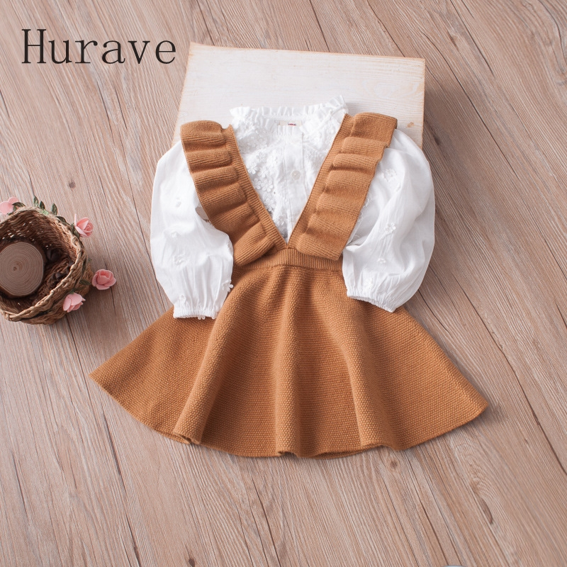 Hurave-Autumn-2017-girls-dress-girl-clothing-Knit-Sweater-Kids-for-girl-robe-fille-kids-clothing-beautiful-vestidos-4