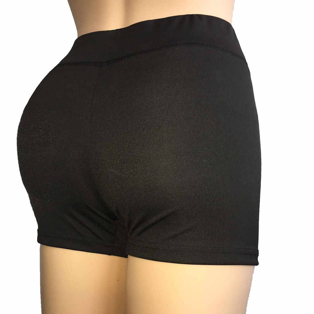 Kobiety joga Skinny Sport szorty Skinny codziennie siłownia krótkie spodenki do biegania na co dzień elastyczna wysokiej talii stałe spodenki Calzas Deportivas Mujer TX4
