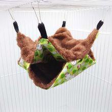 Гамак для домашних животных, двухслойный плюшевый мягкий зимний теплый подвесной домик, спальная кровать, маленькие домашние животные, хом...