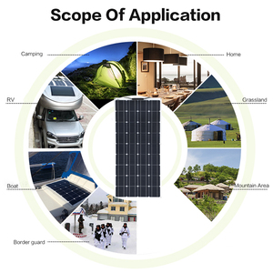 Image 5 - 200w 18v 100w panel solar flexible 12v Cargador solar monocristalino Módulo de célula solar caravana RV Sistema de Casa de yate