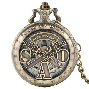 Крутые электронные кварцевые карманные часы с изображением меча, Вращающаяся крышка, креативные часы Fob для детей, модные мужские часы для м...